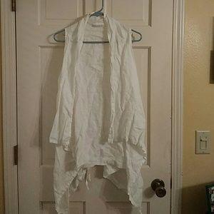 Bryn Walker white linen vest